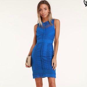 Bright blue Lulu's dress